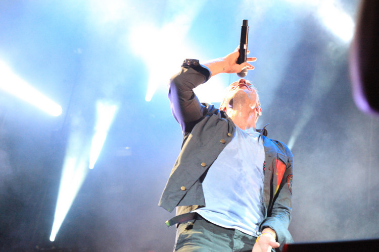 """Coldplay"" performing at ACL 2011. Photo: Flickr user Robert Scoble, creative commons licensed."