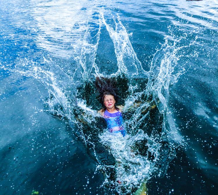 blue hole georgetown swimming swimmer swim water fun