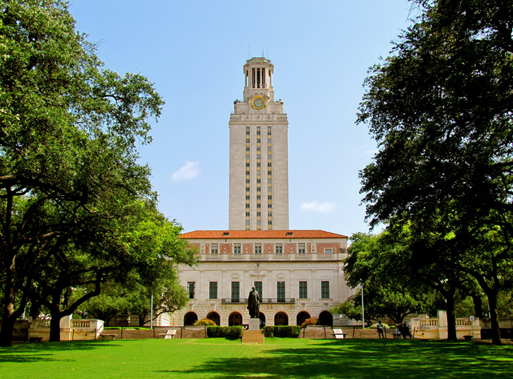 ut university of texas tower campus lawn observation deck