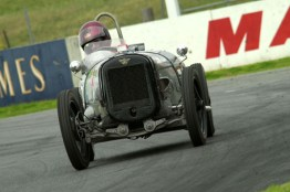 Ian Brock competing at Mallala in his Austin 7