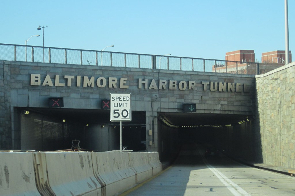 entrance to the Baltimore Harbor Tunnel