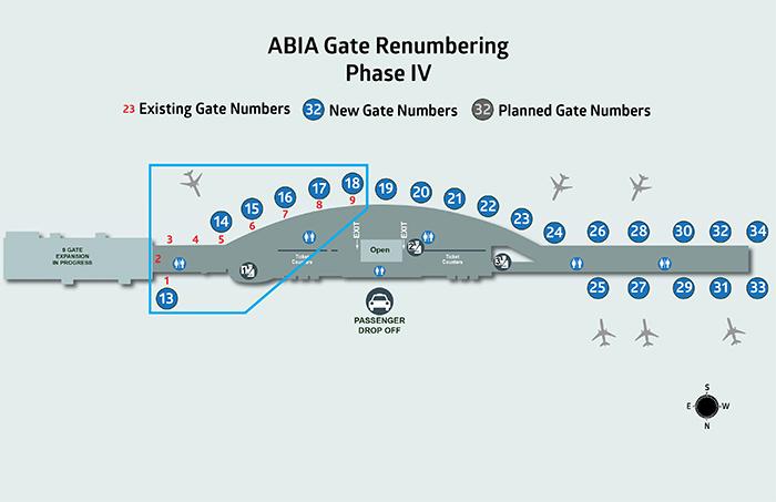 Phase IV - ABIA gate renumbering