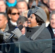 Franklin singing at the 2009 inauguration of President Obama.