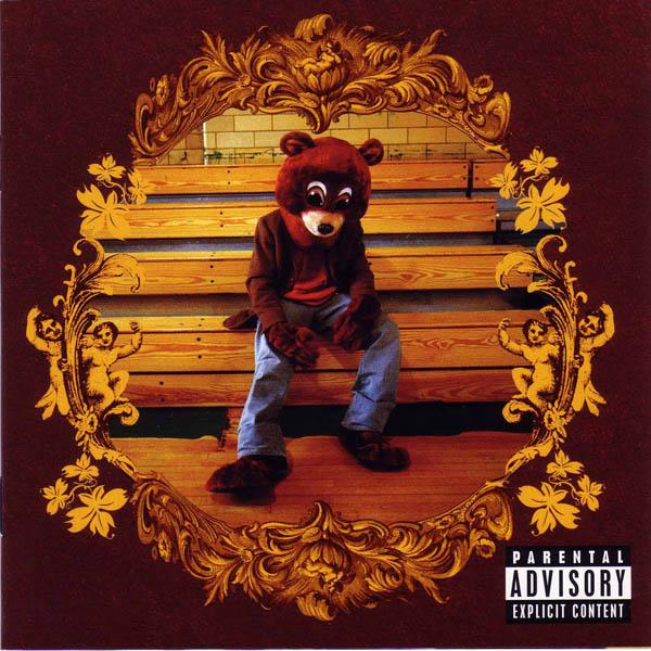 "MISSING WEST: The cover of Kanye West's ""College Dropout"" album. 