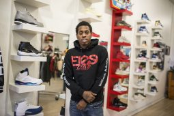 Owner Boo stands for a photo inside his shop at Flee Club shoe store on Western Avenue in Chicago's Near West Side neighborhood. | ALEXA ROGALS/Staff Photographer
