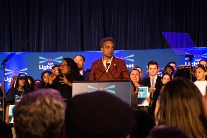 LOTS OF WORK AHEAD: New Chicago Mayor Lori Lightfoot, pictured on Election Night in April, will be tasked with confronting the City Council's committee spending. | File photo