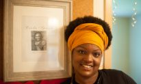 Mindy, a poet who has taken refuge in the Leola Spann House. | SHANEL ROMAIN/Contributor