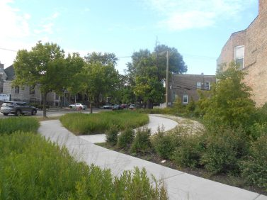 BETTER LOTS: The city has improved several vacant lots in North Lawndale that will be turned over the community. Above, the lot at 3626 W. Ogden Ave. | IGOR STUDENKOV/Contributor
