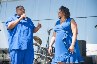 Alderman Jason Ervin (28th) and Chicago Treasurer Melissa Conyears-Ervin were grand marshals during this year's Summer Fest West parade. | SHANEL ROMAIN/Contributor