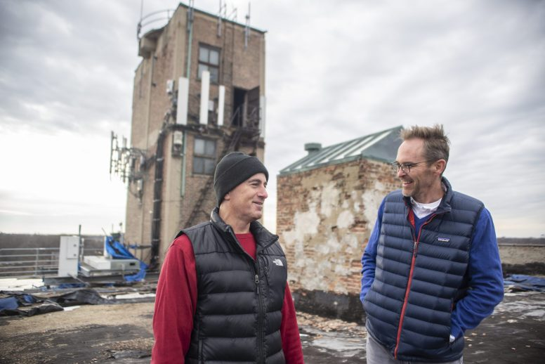 Big dreams: Greg Sorg (above left) and architect Bill Scholtens have big plans for the former Jackson Storage warehouse, including space for collectors of vintage cars to display and service their vehicles. | ALEX ROGALS/Staff Photographer