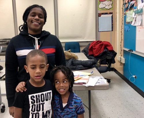 Jada Toy with her mentees. | BONNIE McKEOWN/Contributor