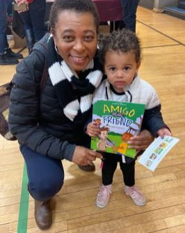 BRIGHT MINDS: Darryl Harvey, the founder of the Chicago Black Child Book Fair, with young readers on Saturday. Harvey said he started the event, in part, to promote positive images for black children. | Photos courtesy Darryl Harvey/Facebook