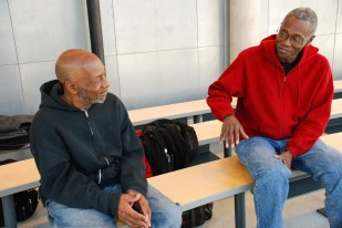 Beating Homelessness: Drew Hall and Jerrold Herman are veterans living at Pacific Military Gardens Mission. Both were homeless but hope to leave the mission soon.LAUREN COOK/Medill