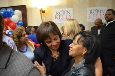 Kelly cleans house: Robin Kelly won 90 percent of the black vote in the predominantly African-American, U.S. House district in last Tuesday's election.ANATHA BALIGA/Contributor