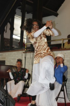A Greater St. John praise dancer entertains the congregation at a worship performance last month.DAISY WINFREY/Contributor
