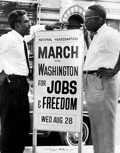 Bayard Rustin and Cleveland Robinson, organizers of the March on Washington.