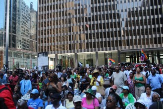 Thousands rallied in downtown Chicago July 20, in response to the July 13, verdict in the Trayvon Martin murder case where his killer, George Zimmerman, was found not guilty (LARISA LYNCH/Contributor)