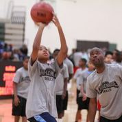 One of the many clinics a part of the Chi League Parks, a program that demonstrates Nike's commitment to inspire and enable Chicago's young athletes to maximize their potential on and off the basketball court.