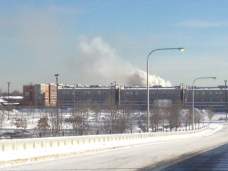 Smoke coming from the fire on Latrobe Ave. (photo courtesy of Dawn Ferencak)