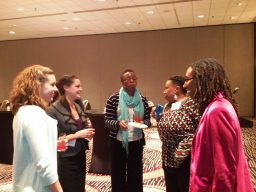 Women enjoyed networking in addition to the informational sessions