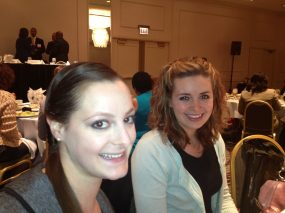 Alicia Plomin, Display Advertising Coordinator, with Maggie Acker, Advertising Designer.