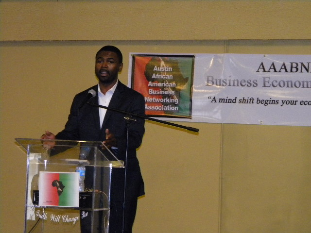 Rep. La Shawn K. Ford speaking at the AAABNA conference. (Photo courtesy of Malcolm Crawford)