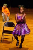 "Destiny Reed takes a tap solo for ""Crazy Rhthyms."" (David Pierini/staff photographer)"
