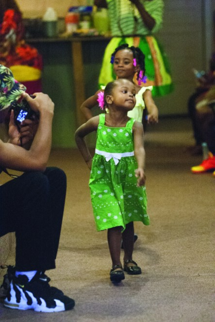 Jayla Crawford, 3, and Alaura Hayden, 4, above, please the crowd with their walks. (David Pierini/Staff Photographer)