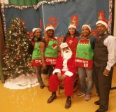 Fathers Who Care brought gifts to George Leland Elementary