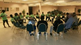 """Circle of Truth"" at a recent public Community Meeting held by the West Garfield Park Community Stakeholders"