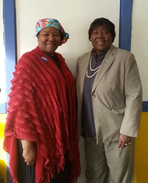 Long-time West Side Bridge and West Side Women members Diondai Brown-Whitfield and Dr. Louverta Hurt