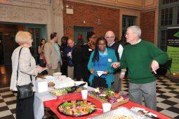 "Guests enjoying ""Taste of Local Eats"" buffet"