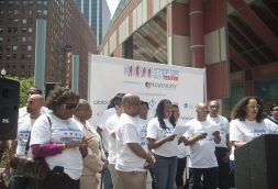Step Up Get Tested kickoff event at the Thompson Center in downtown Chicago on June 4. | WILLIAM CAMARGO/Staff Photographer