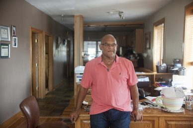 MacArthur Alexander in his Austin office on Sept. 3, 2015. MacArthur opened the famous soul food restaurant that bears his name in 1997.