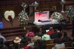 Mourners gather at the funeral of Quintonio LeGrier, held Jan. 9, at New Mt. Pilgrim MB Church. William Camargo/Staff
