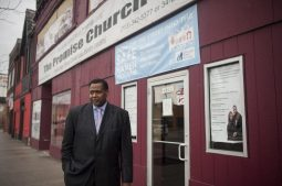 Rev. Joseph Kyles stands outside of his Austin church on April 7. | William Camargo/Staff