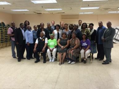 West Garfield Park Community Stakeholders and Deputy Chief James Jones