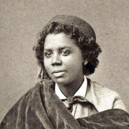 """The statue, """"The Death of Cleopatra,"""" is the work of African American and Native American sculptor Edmonia Lewis, who was one of the subjects of John Rice's historical novel, """"The Ghost of Cleopatra."""" 