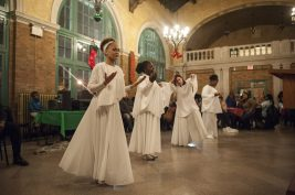 A praise dance group which was formed to perform at last  Thursday's West Side Business Network holiday party, could be the prelude to something bigger for the four members. | William Camargo/Staff