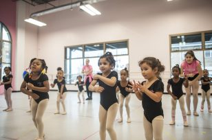 Children enjoy morning dance class on Saturday January 28, 2017 at Stairway of the Stars in Maywood, children from various western suburbs and from the west side of Chicago join to take either at a low cost or free dance classes.