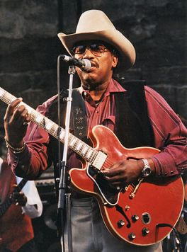 Otis Rush, widely considered the father of the West Side blues style, performing at the Notodden Blues Festival, Norway, in 1997. | Svein M. Agnalt