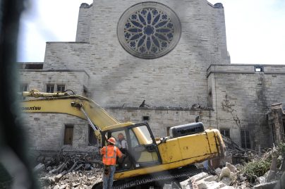 The Convent of St. Angela getting demolished in Austin on June 22, 2017. St. Angela church stopped mass in the mid 2000's and primary focused on the school.