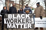'THE SYSTEM CAN'T WORK': Anthony Steward, center, an activist with Black Workers Matter, and state Rep. La Shawn K. Ford (8th), second from left, during a Dec. 11 protest outside of Aryzta's Galewood bakery. | ALEXA ROGALS/Staff Photographer