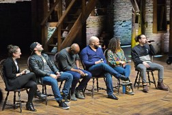 Hamilton Chicago cast members answer questions from students last Wednesday, during the Hamilton's Education Program at the CIBC Theatre on Monroe Street in downtown Chicago. | ALEXA ROGALS/Staff Photographer