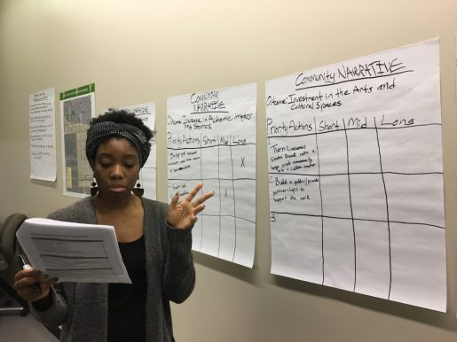 Briana Shields leads a group deciding which proposals should be pursued as part of a five-year, comprehensive plan being developed to improve Austin. | AustinTalks