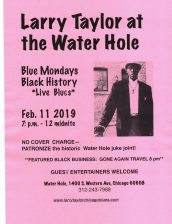 Larry Taylor Water Hole poster