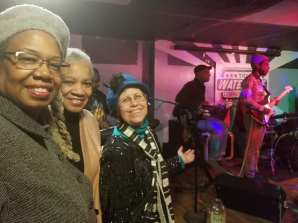 Black Business and the Band: Crystal Dyer of Gone Again Travel and Tours; Valerie F. Leonard, Nonprofit Utopia; Bonni McKeown, West Side Blues blogger and keyboard player.