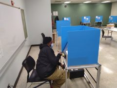 A resident voting at a West Side polling location on Nov. 3. | File