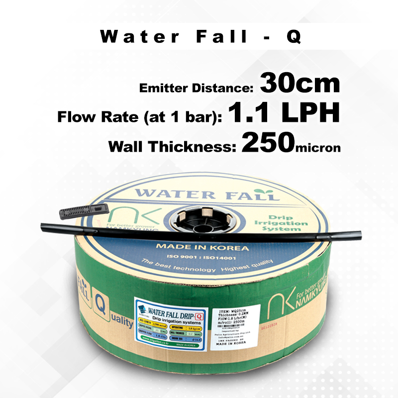 Drip Tape Water Fall-Q | 1.1 L/Hr 30cm