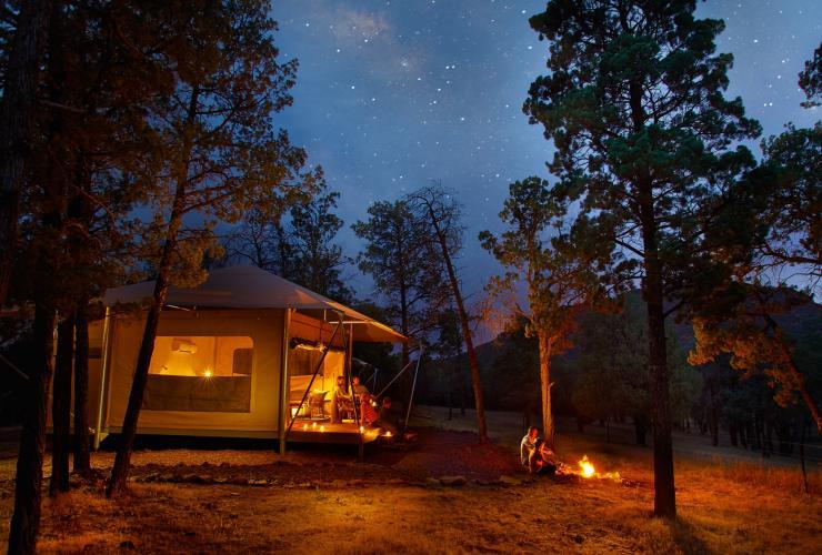 Glamping in Australia Ikara Safari Camp, Wilpena Pound, SA © Archie Sartracom, Tourism Australia